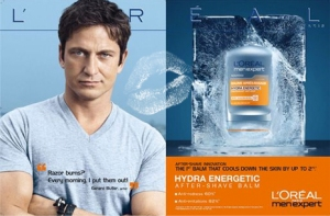 Gerard Butler for L'Oreal Paris (Men's Product Line)